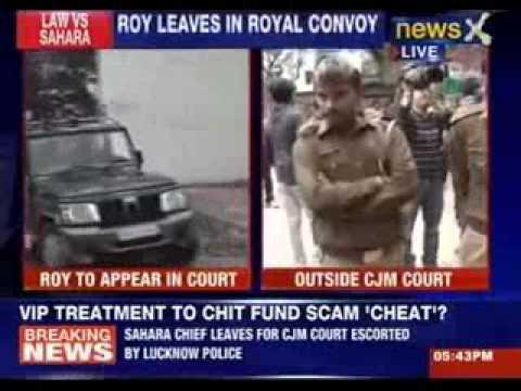 Subrata Roy taken to Lucknow court
