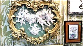 БЛОШИНЫЙ рынок на Тишинке меня снова удивил. 30 марта. Часть 1. Антиквариат. Бисквитный фарфор.