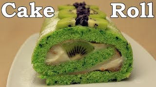 Swiss Cake Roll Recipe - Kiwi and Chocolate Chips