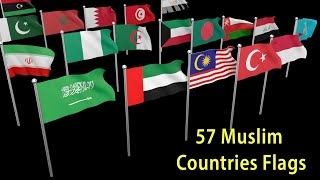Flags Of Muslim Countries | Flags And Countries Name Of Islamic Cooperation Member || 2020