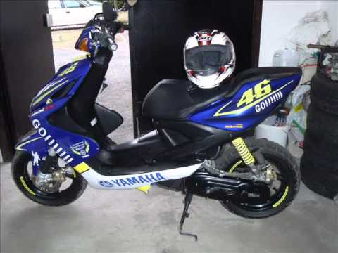 yamaha aerox rossi replica youtube. Black Bedroom Furniture Sets. Home Design Ideas