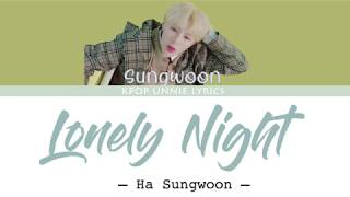 Ha Sung Woon (하성운) - Lonely Night (Color Coded Lyrics Eng/Rom/Han/가사)