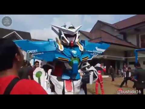amazing gundam 001 exia @fju2018 part 2 (cosplay)