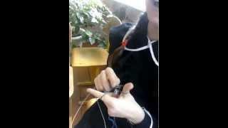 На уроке технологии:Мастер класс по вязанию спицами от Татьяны Татаровой!