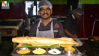 Indian Crepe with Onion and Green Chilli Street Foods