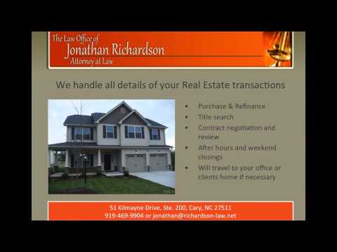 Real Estate attorney fees in Cary NC