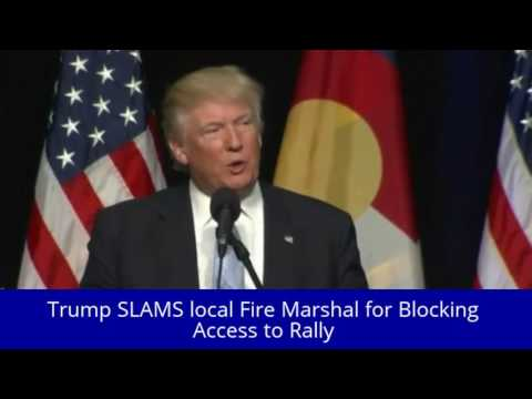 Trump SLAMS local Fire Marshal for Blocking Access to Rally