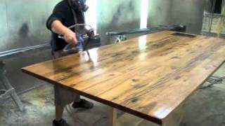 reclaimed wood top