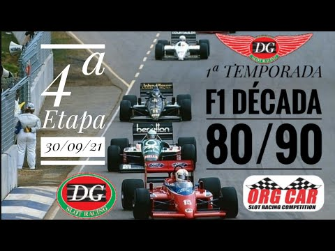 #f1 #dgslotracing – 4ª Etapa F1 80/90 DG SLOT RACING 🇧🇷 🏁 🇮🇹 – 30/09/21