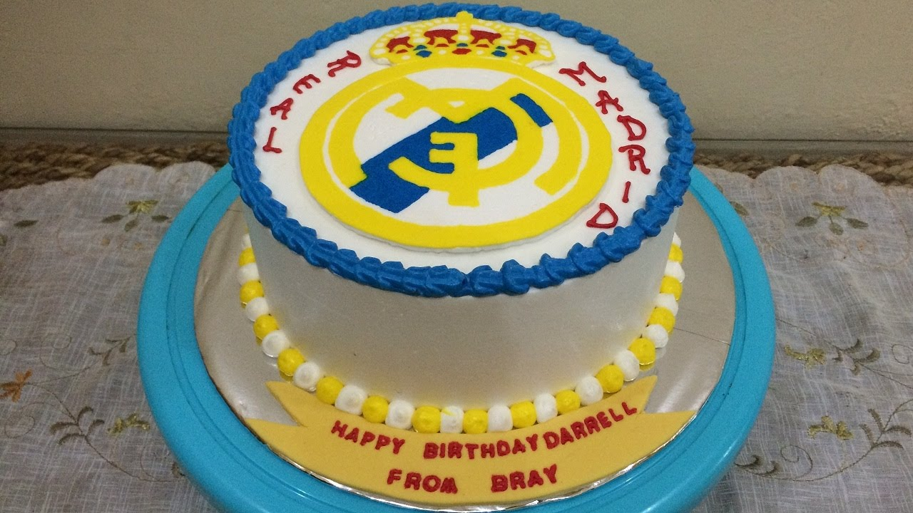 real madrid cake buttercream transfer real madrid cake decorating 6971