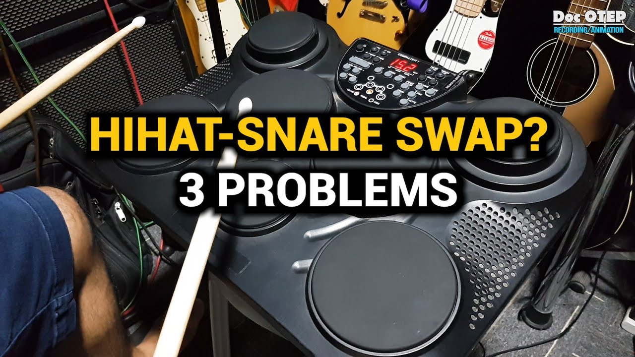 Hihat Snare Swap 3 Problems Medeli Dd315 Alesis Compact Kit7 Youtube