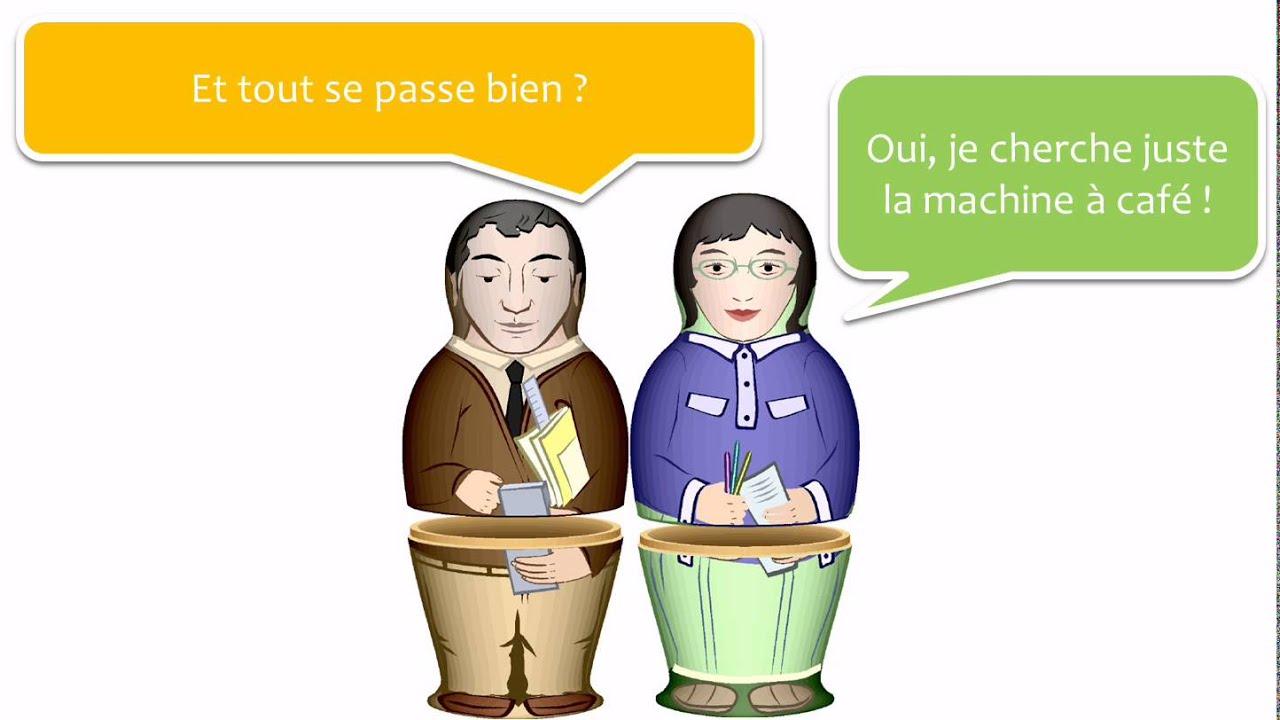 Lär dig franska med dialoger # 5 dialogues