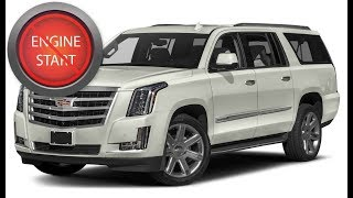 Cadillac Escalade (2017 and newer) with a dead key fob: Get in and start the car.