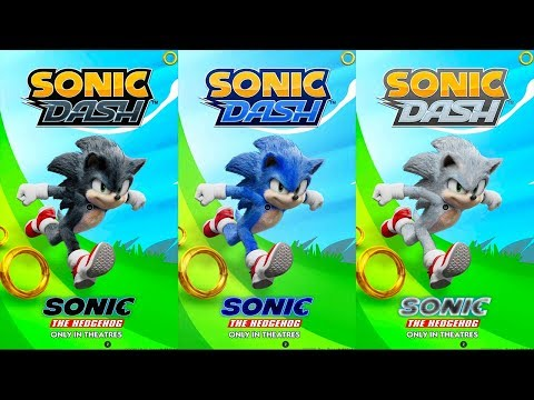 Sonic Dash - Sonic The Hedgehog Movie Coming Soon - All 17 Characters Unlocked And Fully Upgraded