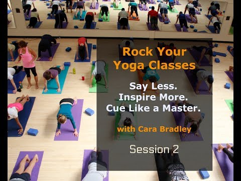 Rock Your Yoga Classes : Session 2 Cueing Template 1- Effective Cueing for Yoga Teachers