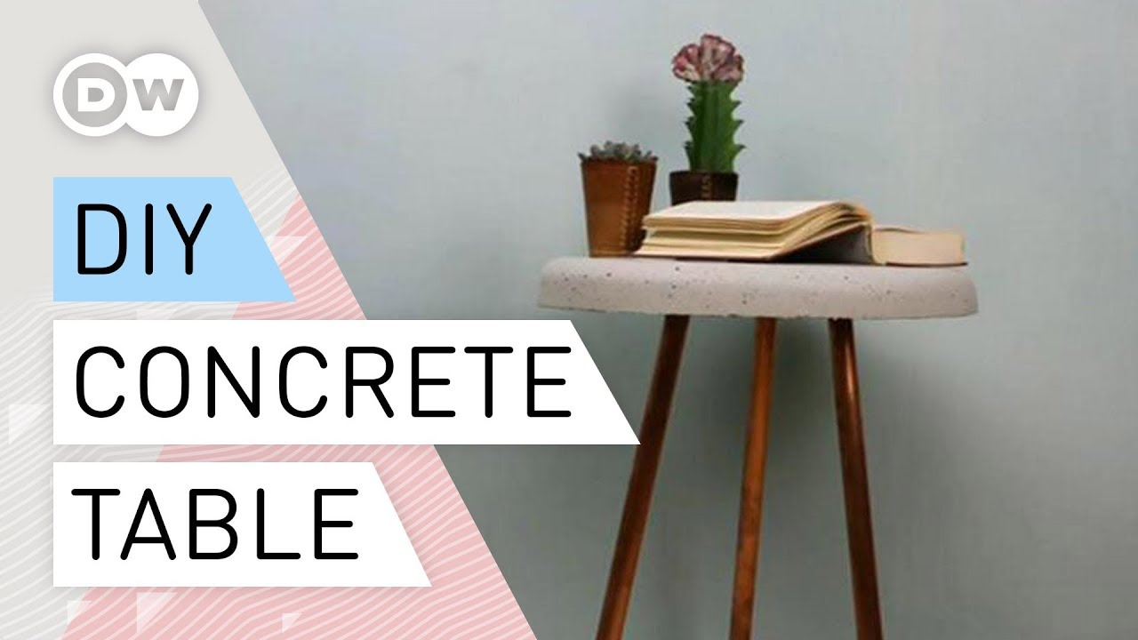 Diy Concrete Table With Copper Pipe Legs
