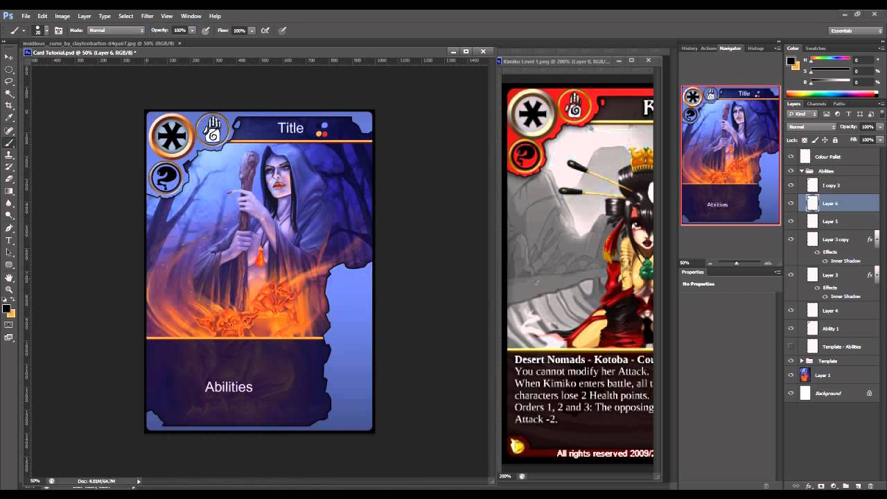 How to Create Trading Cards in Photoshop - YouTube