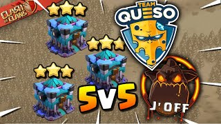 Final Attack DECIDER! Team Queso vs J'Off - 5v5 War (Clash of Clans)
