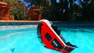 LEGO City train falls in to a pool