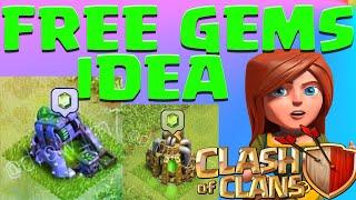 Clash Of Clans Free GEMS Mine? Free Gems Pump? NEW Update Idea! Farming Gameplay No Hack or Cheat