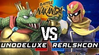 Battle for NAKANDA #1 Losers Semis: Unodeluxe (King K. Rool) Vs. RealSchon (Captain Falcon)