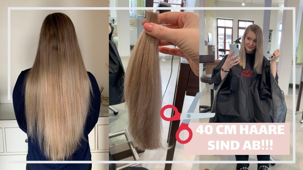 40 cm Haare sind ab!! | Vorher - Nachher - YouTube