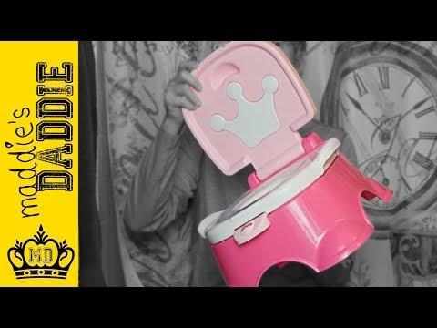 Fisher Price Pink ROYAL Princess Stepstool Potty Review!