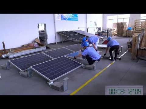 Rail-less Solar Racking System for Flat Roof-Ballast