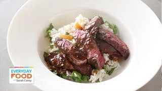 Marinated Skirt Steak With Apricot-arugula Rice | Everyday Food With Sarah Carey