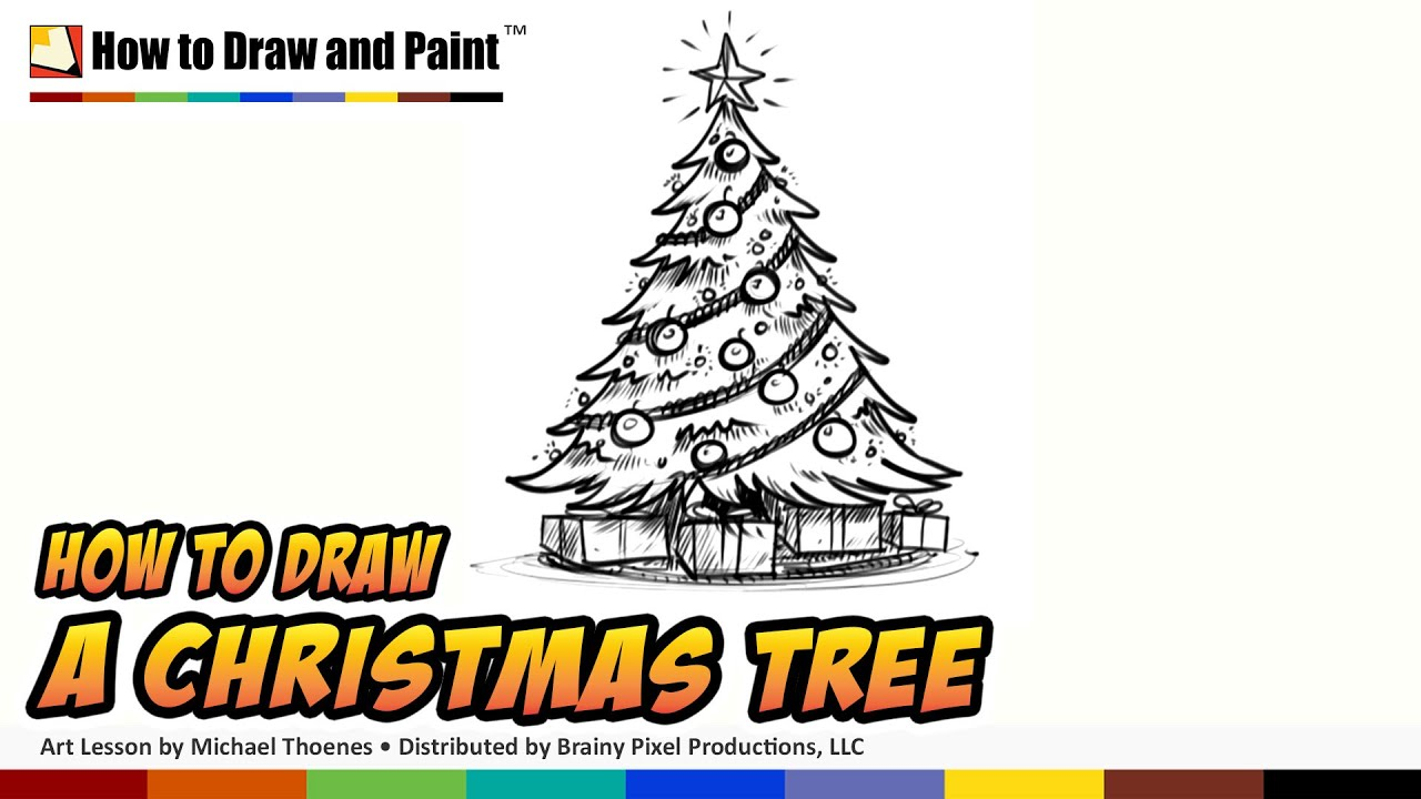 how to draw a christmas tree art for kids things to draw when rh youtube com christmas tree light diagram christmas tree wellhead diagram