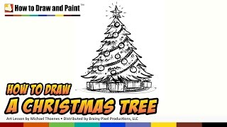 How to Draw a Christmas Tree - Art for Kids - Things to Draw When You