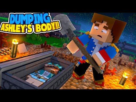 Minecraft DRAMA: DONNY BURIES ASHLEY'S DEAD BODY IN A SECRET GRAVE!! Donny & Leah Adventures.