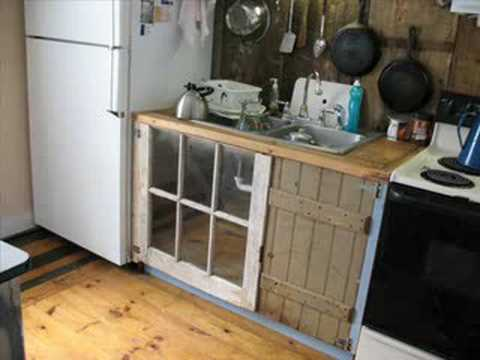 Delightful More Kitchen Cabinets Made Out Of Old Junk   YouTube