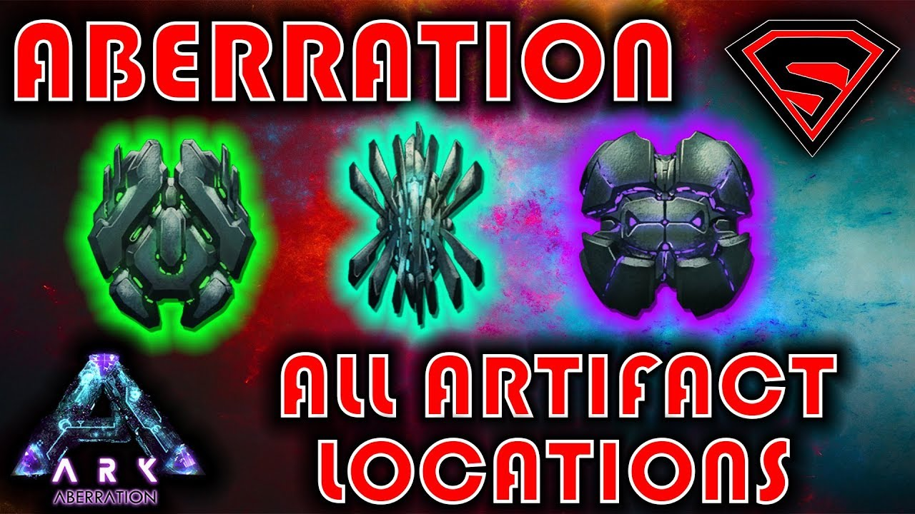 ARK ABERRATION ALL ARTIFACT LOCATIONS - ARTIFACT OF THE DEPTHS, SHADOWS &  STALKER GUIDE