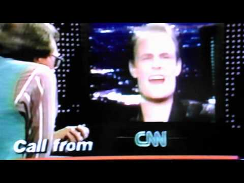 Larry King  Max HeadroomMatt Frewer Prank Call  Live on CNN 80's