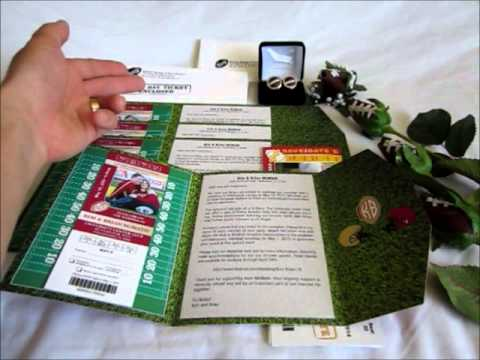 Create Your Custom Designed Football Wedding Invitations