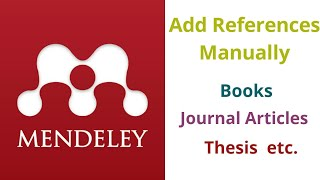 How To Add References Mendeley Manually ? Books | Journals | Thesis  #QandAJunction #AddReferece