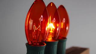 Orange C9 Twinkle Bulbs   Incandescent