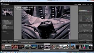 كيفية إنشاء تقسيم لهجة الطباعة بلونين الأبيض والأسود الصور في لايت روم - لايت الفيديو التعليمي