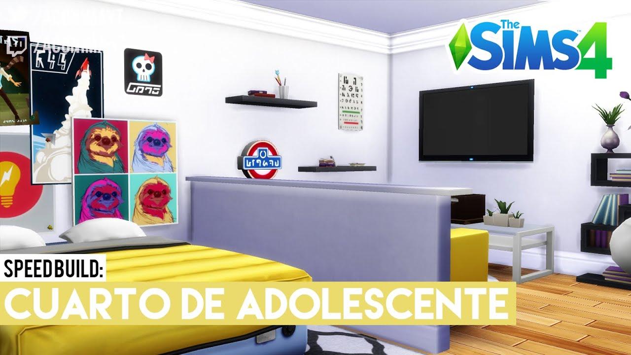 Sims 4 speed build cuarto de adolescente gamer for Decoracion gamer