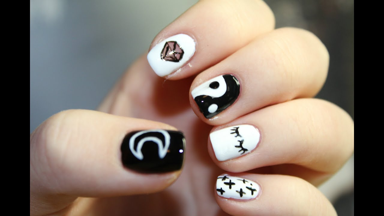 Nail Art Design / Tumblr nails / - YouTube