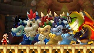 New Super Mario Bros U - Top 4 Final Boss Hacks