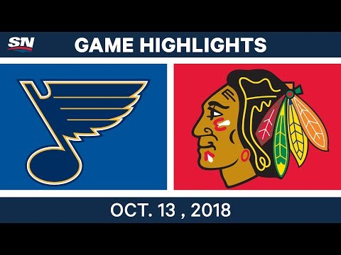NHL Highlights | Blues vs. Blackhawks - Oct. 13, 2018