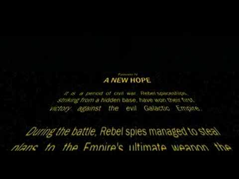 Star Wars Episode Iv Opening Crawl Youtube
