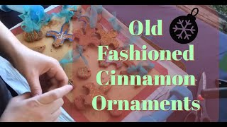 How to Make and Decorate Old Fashioned Cinnamon Holiday Ornaments (No Bake Recipe)