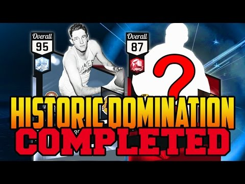 NBA 2K17 HISTORIC DOMINATION COMPLETE -  HISTORIC REWARDS + DIAMOND GEORGE MIKAN AND FIRST RUBY PULL