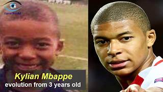Kylian Mbappe - from 3 to 18 years old