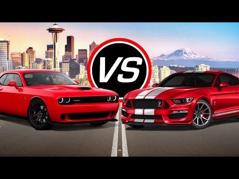 2016 Dodge Challenger SRT Hellcat vs Ford Mustang Shelby GT350 - Spec Comparison!