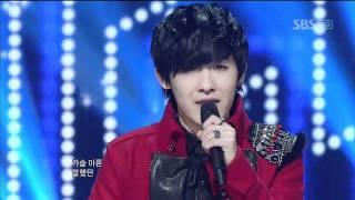 BoM - Dear Feelings Dear Heart (비오엠-가슴아 심장아) @SBS Inkigayo 인기가요 20120101