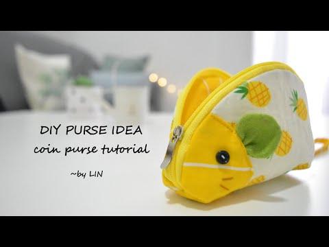 DIY PURSE IDEA / coin purse tutorial #Christmasgift